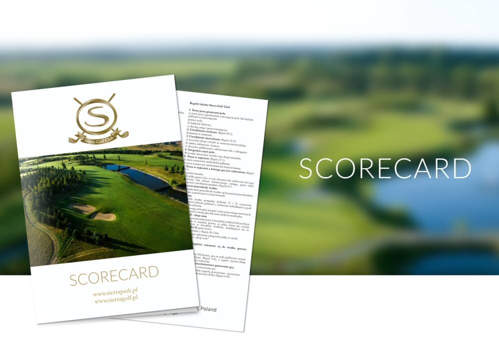 00236 scorecard sierra golf