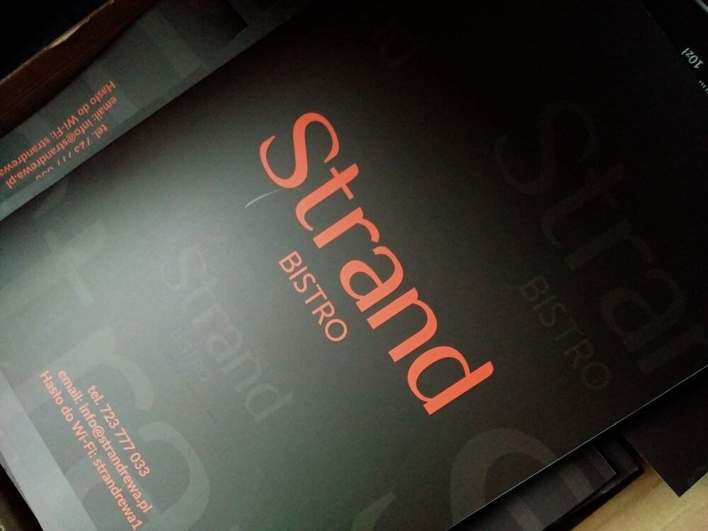 00275 menu strand restauracja